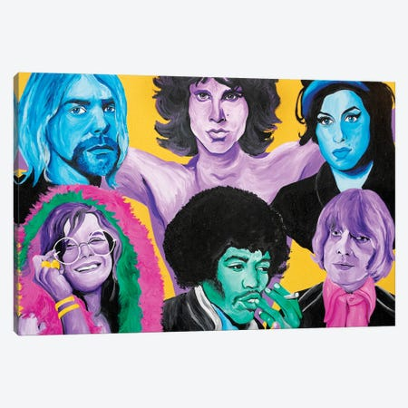 27 Club Canvas Print #SMG1} by Sammy Gorin Canvas Wall Art