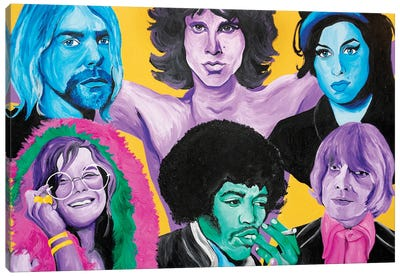 27 Club Canvas Art Print