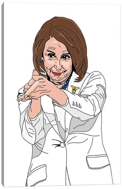 Nancy Pelosi Canvas Art Print