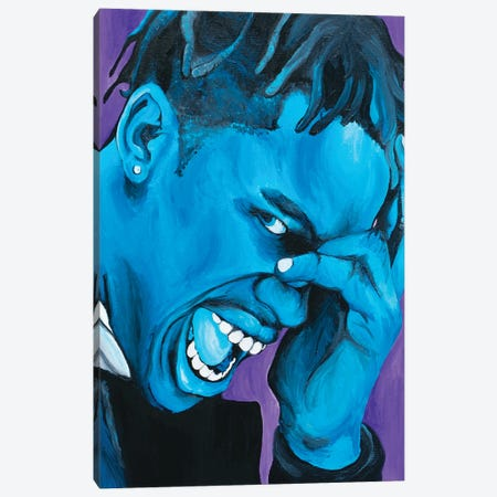 Travis Scott Canvas Print #SMG32} by Sammy Gorin Canvas Artwork