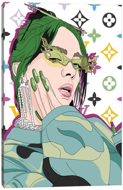Billie Eilish Illustration Canvas Art Print