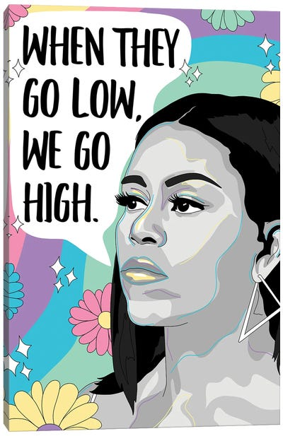 Michelle Obama Illustration Canvas Art Print