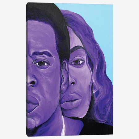 Bey Jay On The Run Canvas Print #SMG3} by Sammy Gorin Canvas Artwork