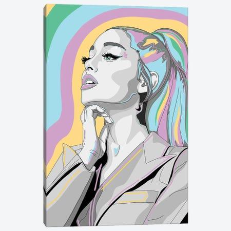 Ariana Grande Canvas Print #SMG43} by Sammy Gorin Art Print