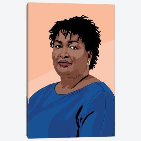 Stacey Abrams Canvas Print #SMG47} by Sammy Gorin Canvas Artwork