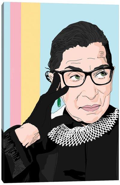 Ruth Bader Ginsburg Illustration Canvas Art Print