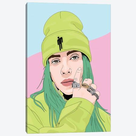 Billie Eilish Blohsh Canvas Print #SMG53} by Sammy Gorin Canvas Art
