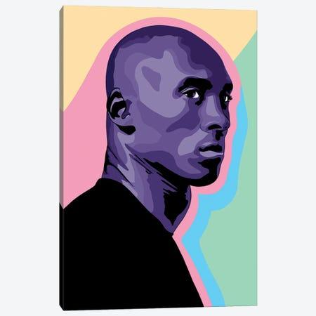 Kobe Bryant Cut-Out Canvas Print #SMG54} by Sammy Gorin Canvas Art Print