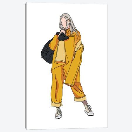 Billie Bellyache Canvas Print #SMG5} by Sammy Gorin Art Print