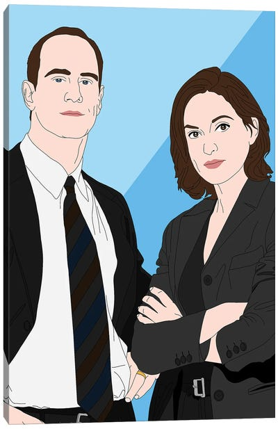 Detective Elliot Stabler And Olivia Benson Canvas Art Print