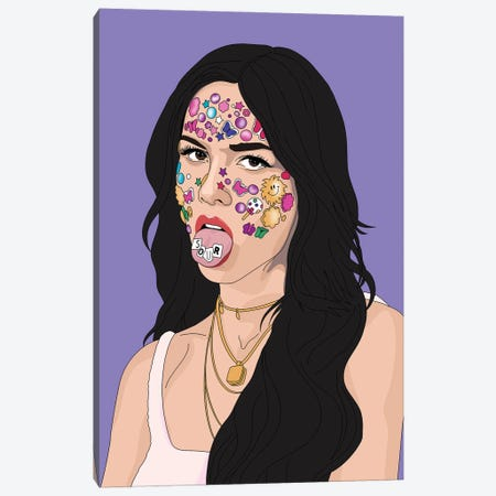 Olivia Rodrigo Sour Canvas Print #SMG67} by Sammy Gorin Canvas Art