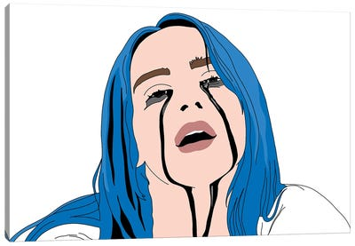 Billie Black Tears Canvas Art Print