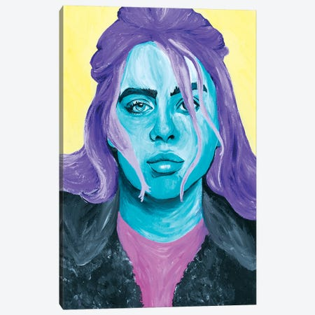 Billie Eilish  Canvas Print #SMG7} by Sammy Gorin Canvas Print
