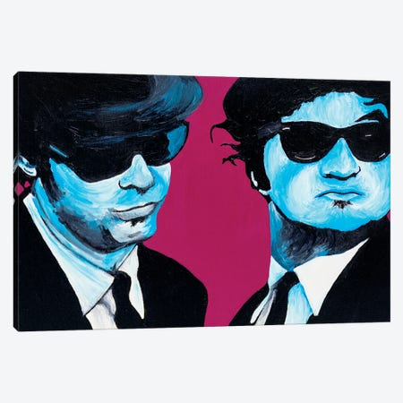Blues Brothers Canvas Print #SMG8} by Sammy Gorin Canvas Art