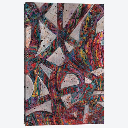 Painted Splattered Roads Canvas Print #SMH26} by Smith Haynes Canvas Art Print