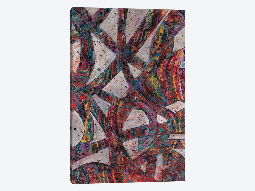 Painted Splattered Roads by Smith Haynes 1-piece Canvas Wall Art
