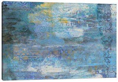 Sapphire Collision I Canvas Art Print