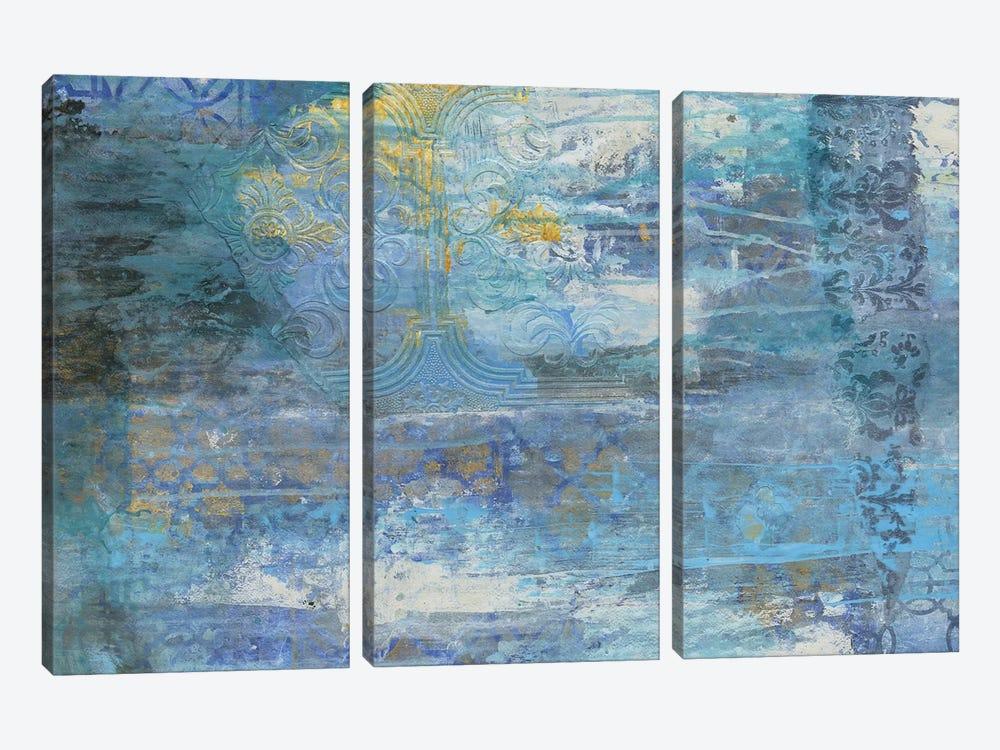 Sapphire Collision I by Smith Haynes 3-piece Art Print