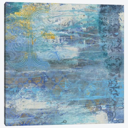 Sapphire Collision II Canvas Print #SMH28} by Smith Haynes Canvas Art