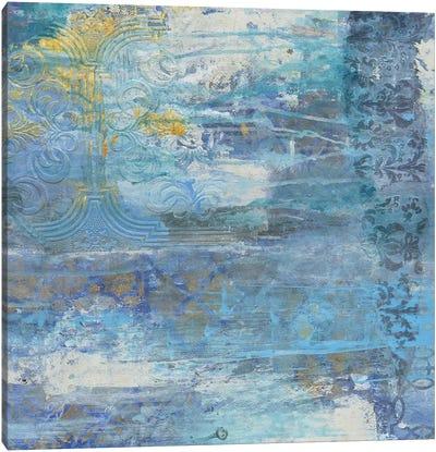Sapphire Collision II Canvas Art Print