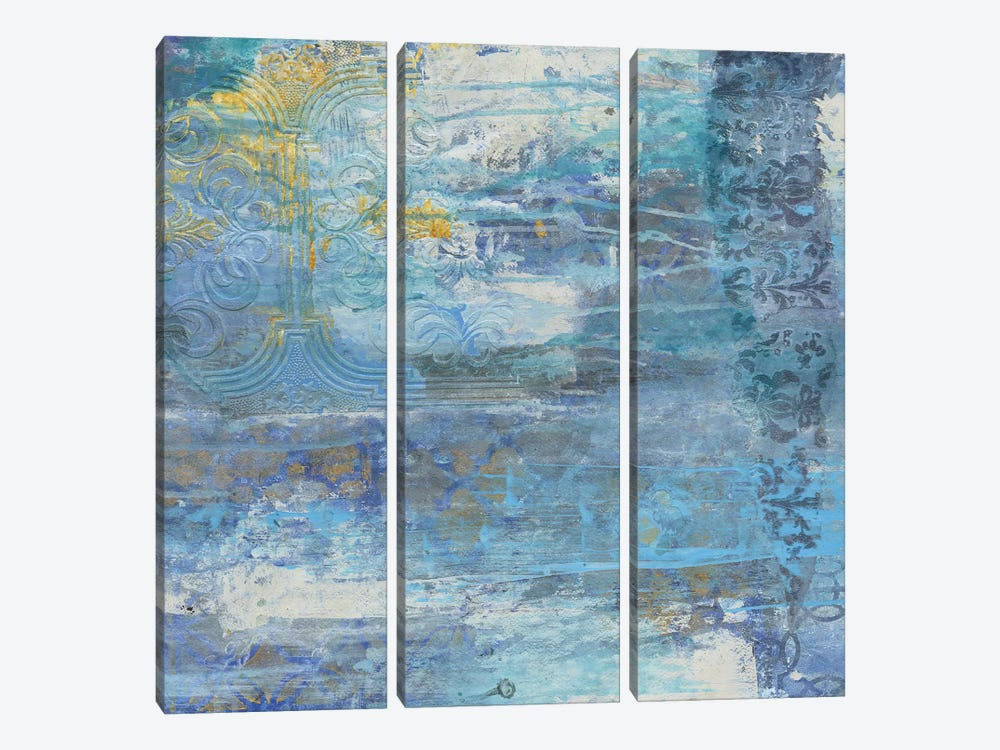 Sapphire Collision II by Smith Haynes 3-piece Canvas Wall Art