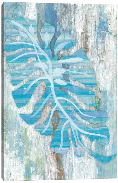 Blue Dreams Palm Canvas Art Print