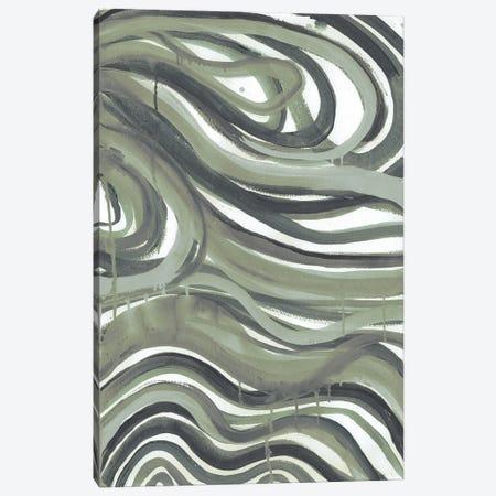 Emerald Swirls I Canvas Print #SMH43} by Smith Haynes Canvas Art