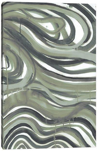Emerald Swirls I Canvas Art Print