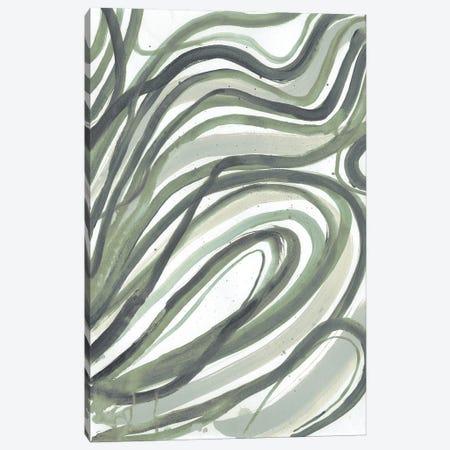 Emerald Swirls II Canvas Print #SMH44} by Smith Haynes Canvas Art Print