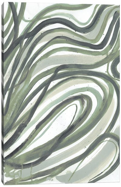 Emerald Swirls II Canvas Art Print