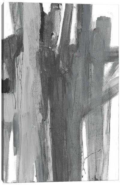 Monochromatic Smears I Canvas Art Print