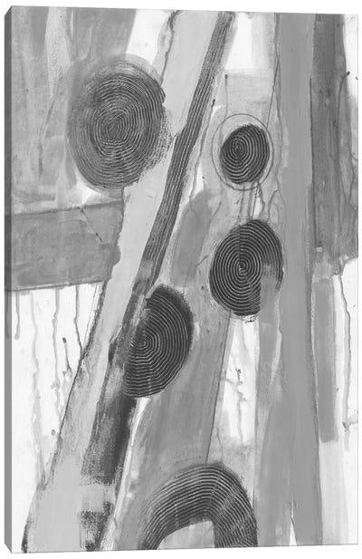 Monochromatic Smears II Canvas Art Print