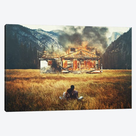 Burned Canvas Print #SML20} by Seamless Canvas Art
