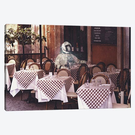 Dinning Alone Canvas Print #SML23} by Seamless Canvas Art