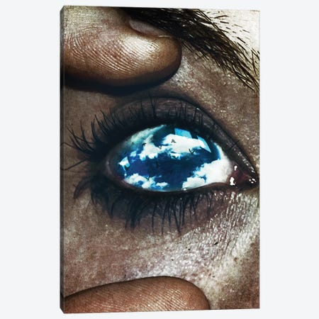 Ojos Color Cielo Canvas Print #SML60} by Seamless Canvas Wall Art