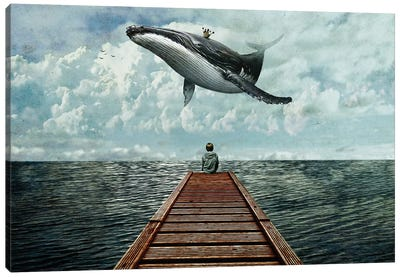 Pier Canvas Art Print