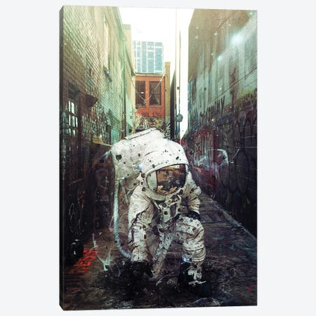 Alley Canvas Print #SML6} by Seamless Canvas Wall Art