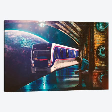 The Station Canvas Print #SML93} by Seamless Canvas Print