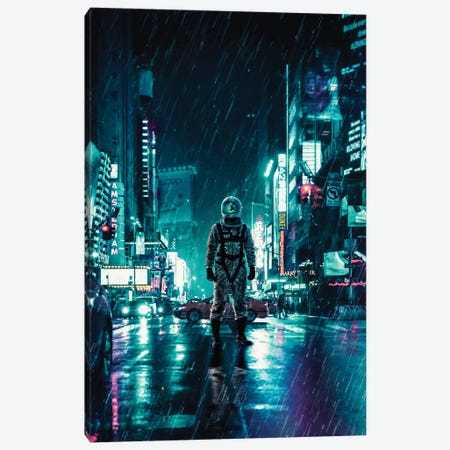 Another Rainy Night Canvas Print #SML9} by Seamless Canvas Art Print