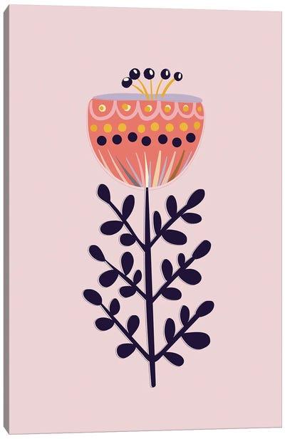 Large Simple Flower Canvas Art Print