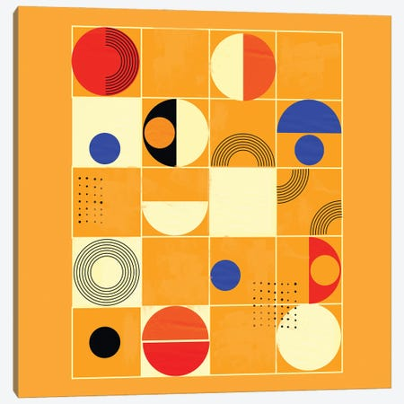 Mid Century Abstract III Canvas Print #SMM125} by Show Me Mars Canvas Wall Art