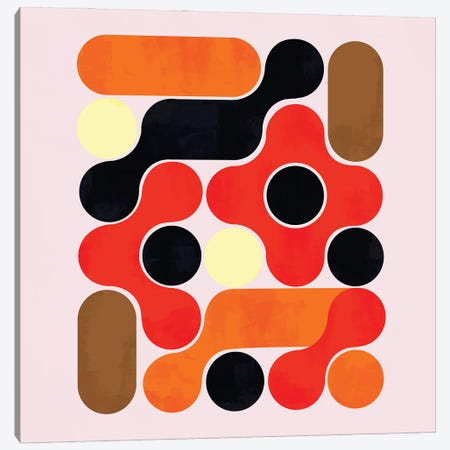 Mid Century Abstract VII Canvas Print #SMM129} by Show Me Mars Art Print