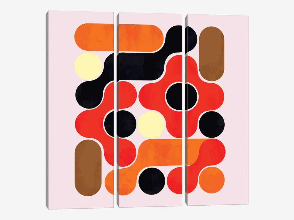 Mid Century Abstract VII by Show Me Mars 3-piece Canvas Art Print