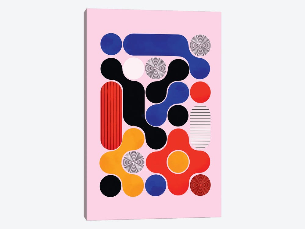 Mid Century Abstract VIII by Show Me Mars 1-piece Canvas Art Print