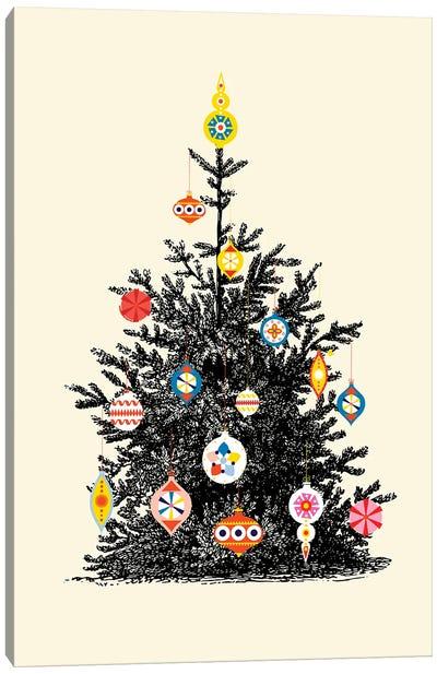 Retro Christmas Tree IV Canvas Art Print