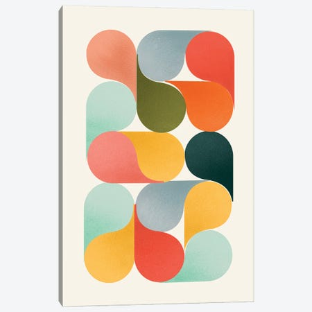 Shapes Of Color Canvas Print #SMM162} by Show Me Mars Canvas Art Print