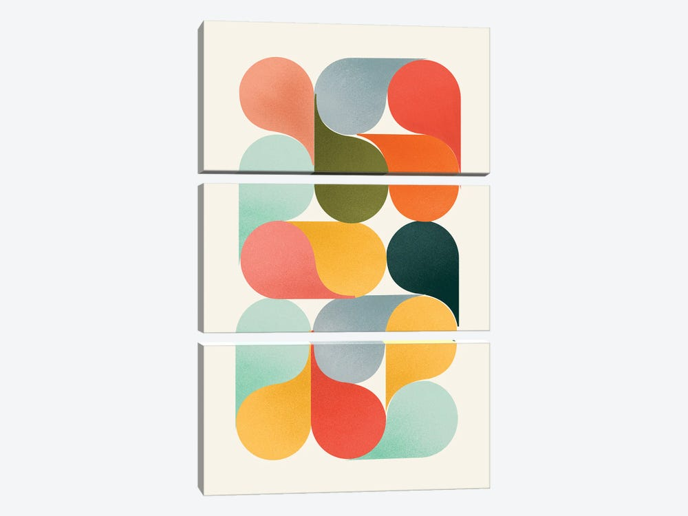 Shapes Of Color by Show Me Mars 3-piece Canvas Wall Art