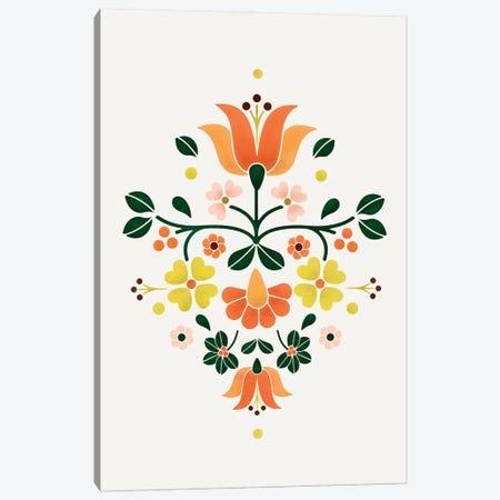Bright Folf Flowers Canvas Print #SMM16} by Show Me Mars Canvas Art Print