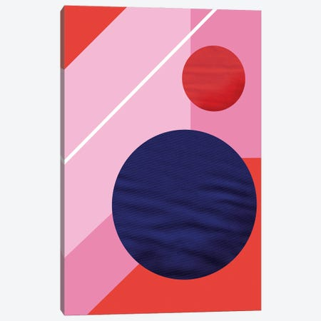 Abstract With A Purple Circle Canvas Print #SMM1} by Show Me Mars Canvas Wall Art
