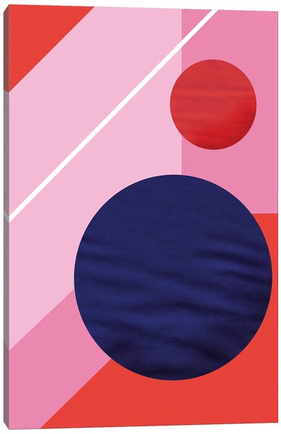 Abstract With A Purple Circle Canvas Art Print